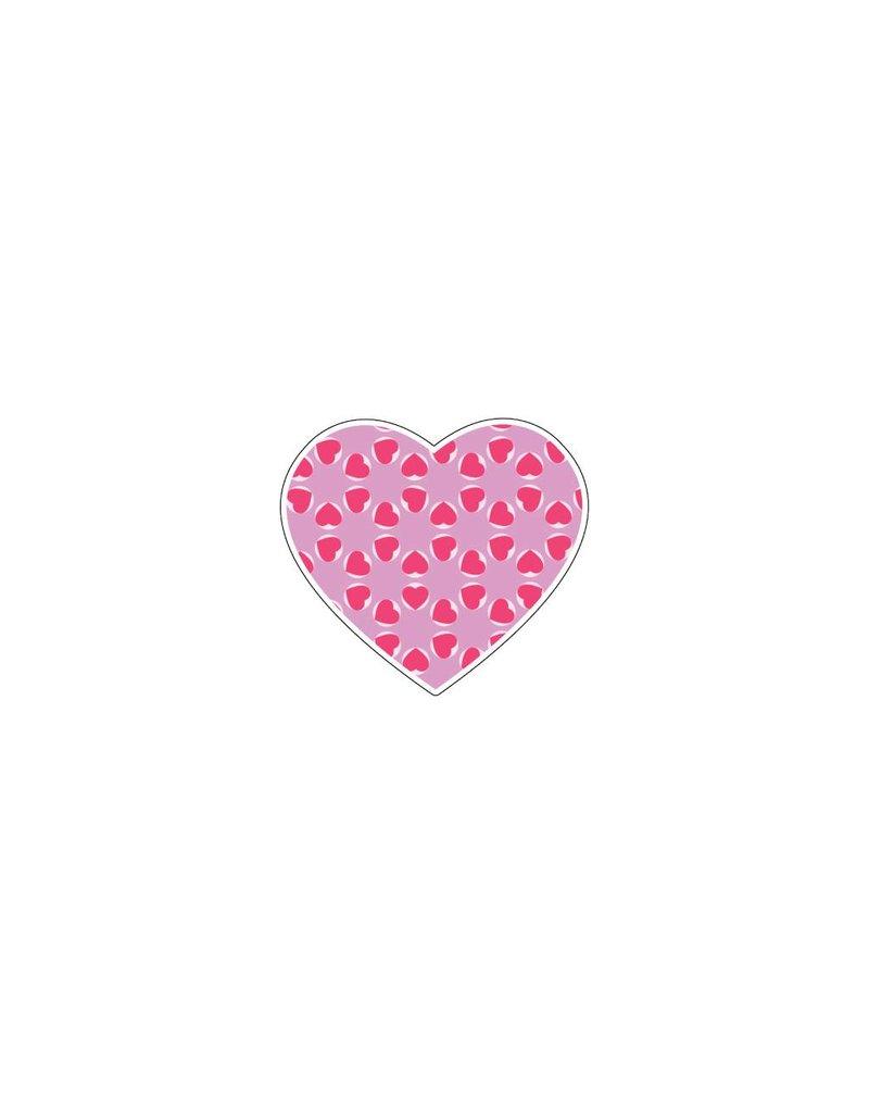 Valentine's day Heart Pink 5 Stickers