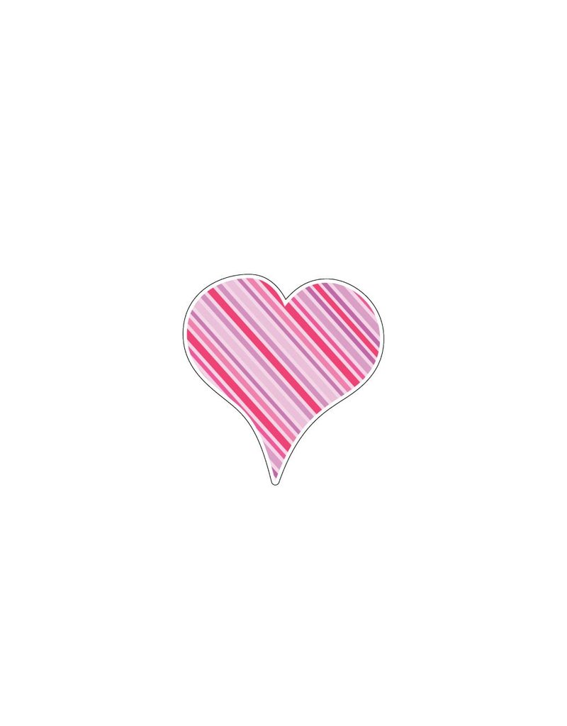 Autocollant Saint-Valentin cœur rose 4