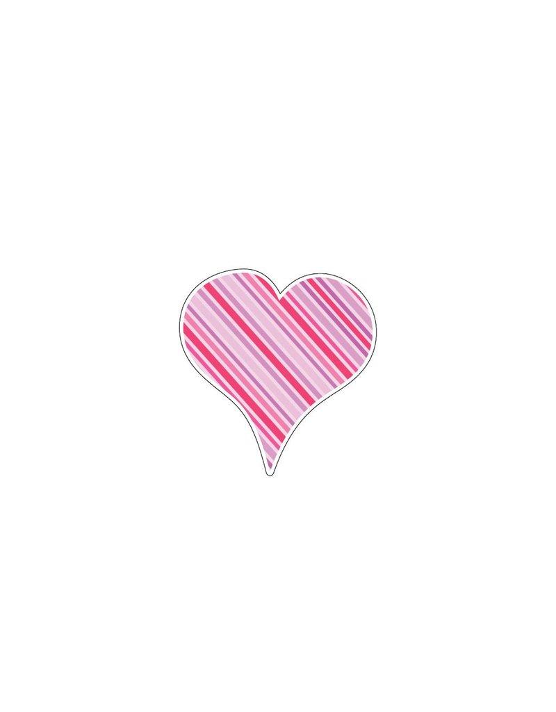 Valentine's day Heart Pink 4 Stickers