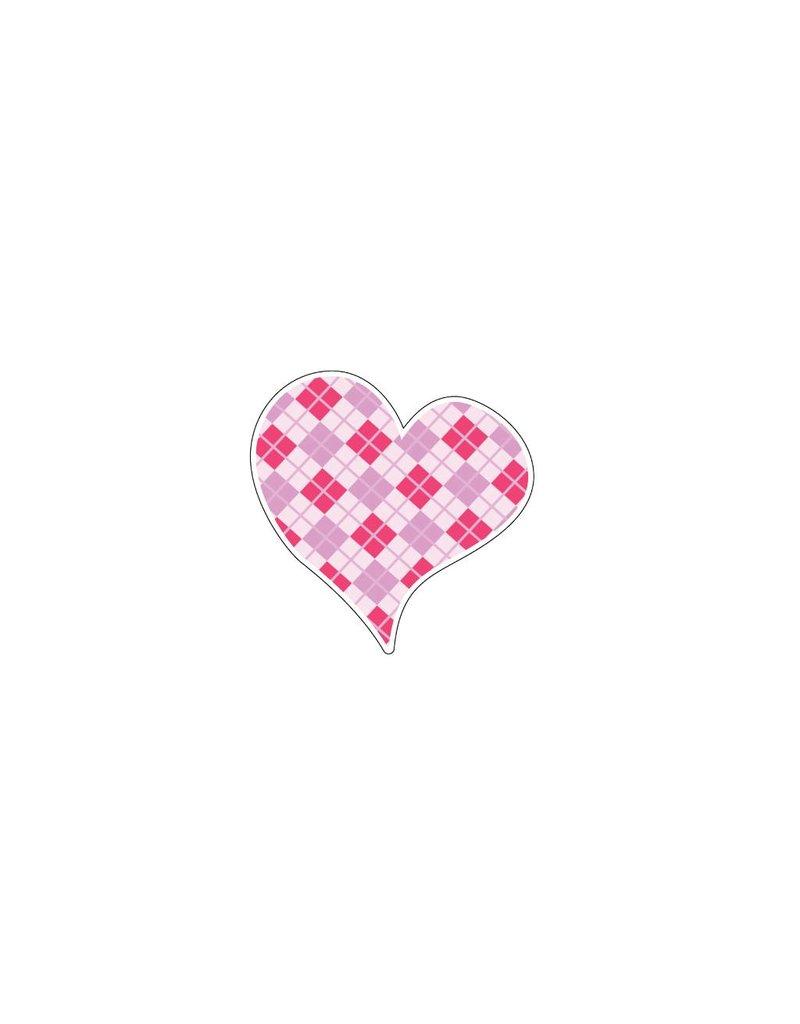 Autocollant Saint-Valentin cœur rose 3