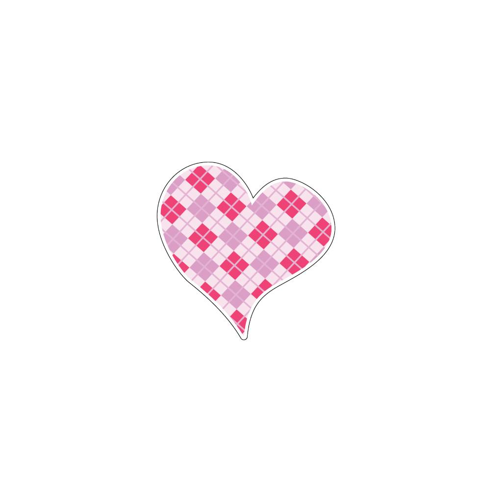 Valentine's day Heart Pink 3 Stickers