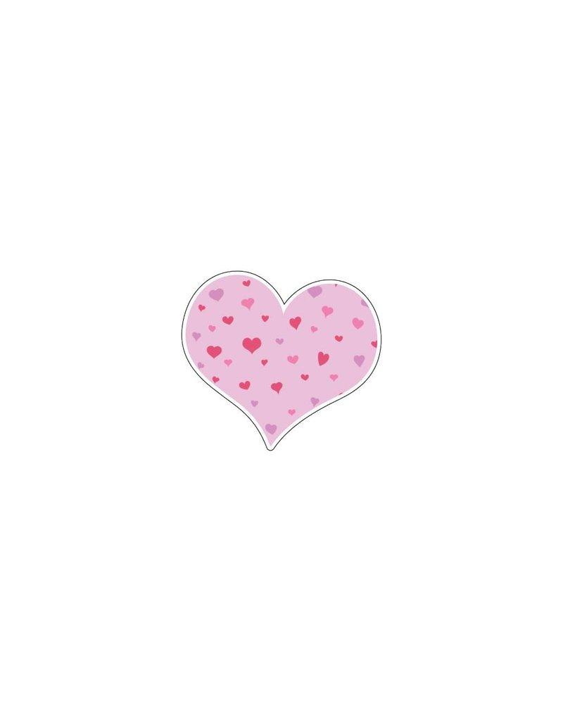 Autocollant Saint-Valentin cœur rose 2