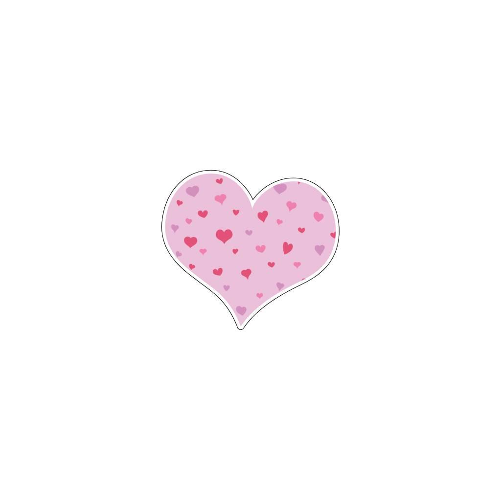 Valentine's day Heart Pink 2 Stickers