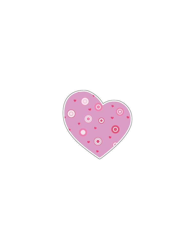 Autocollant Saint-Valentin cœur rose 1