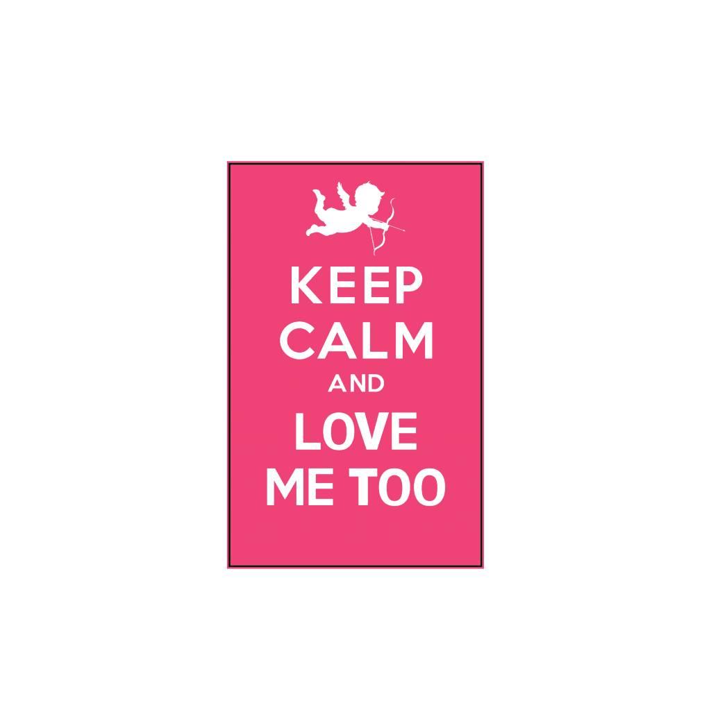Valentijnsdag Keep Calm Stickers