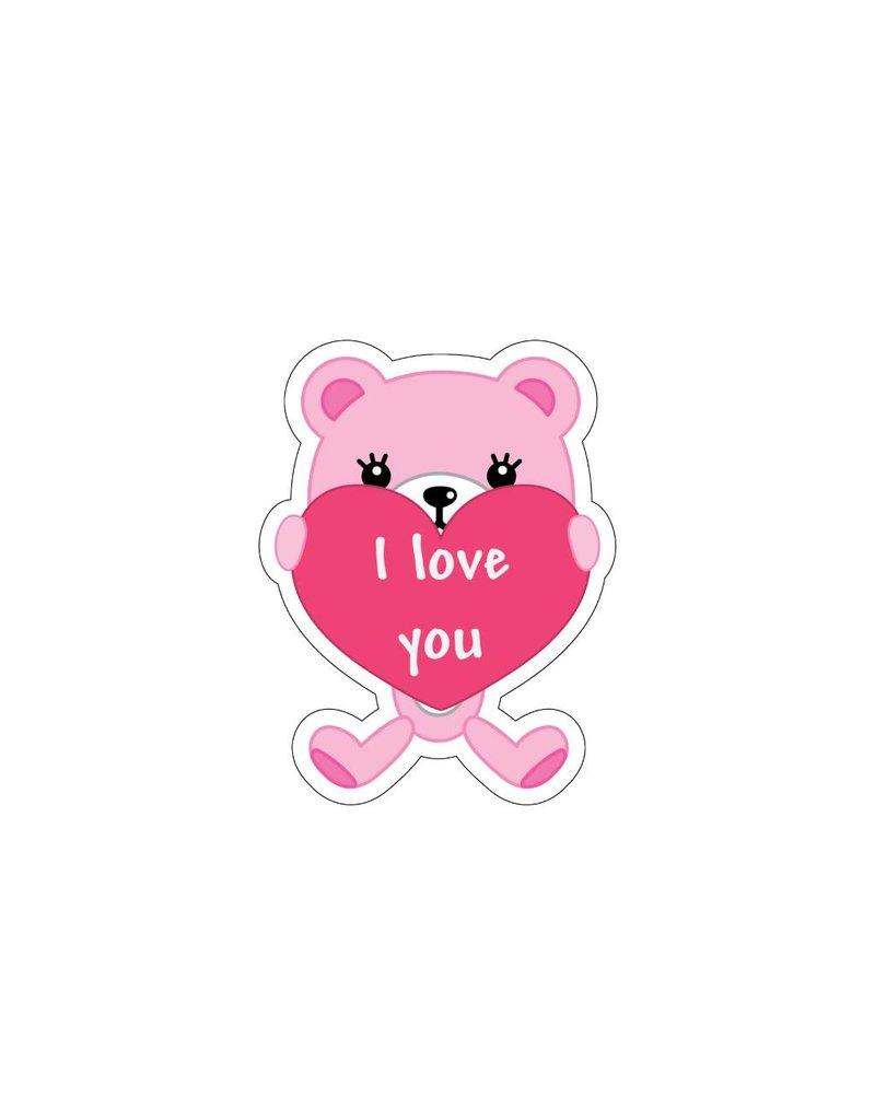 Valentine's day Love Bear 5 Stickers