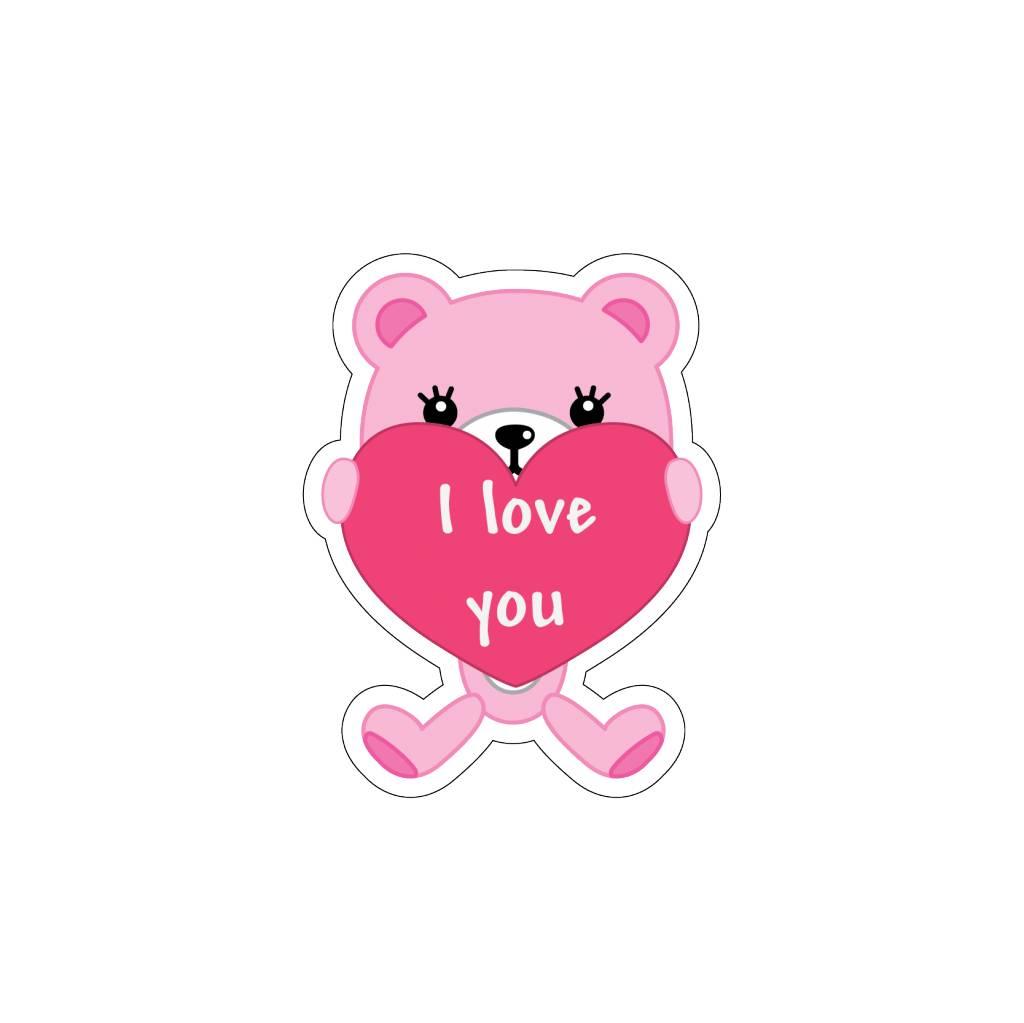 Autocollant Saint-Valentin Love petit ours 5