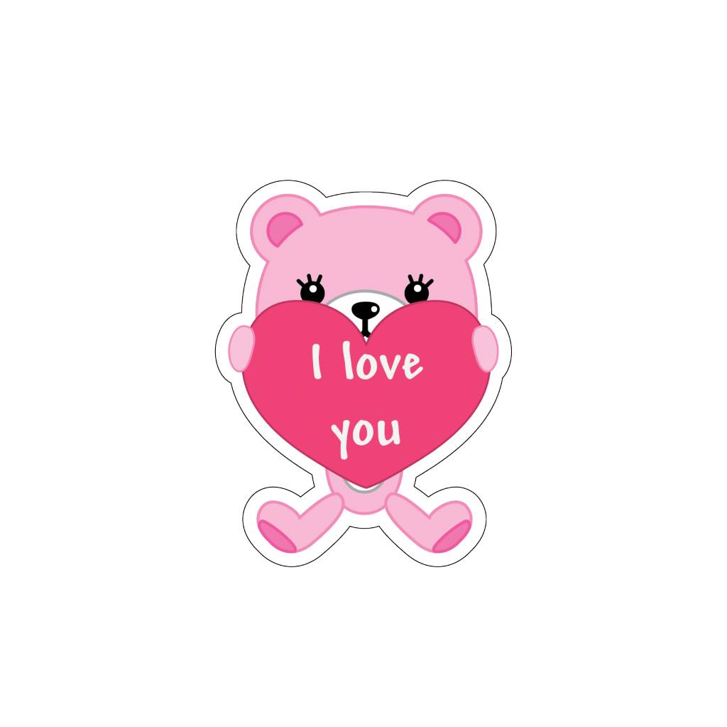 Valentine's day Love Bear 5 Stickers