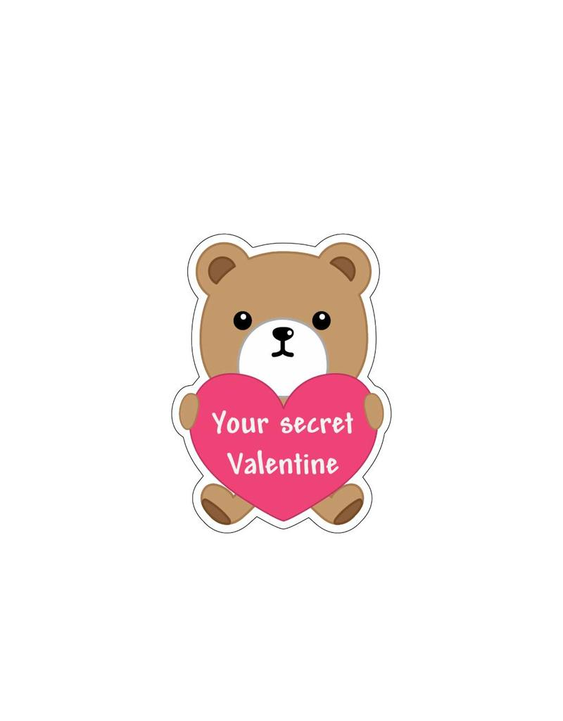 Valentine's day Love Bear 4 Stickers