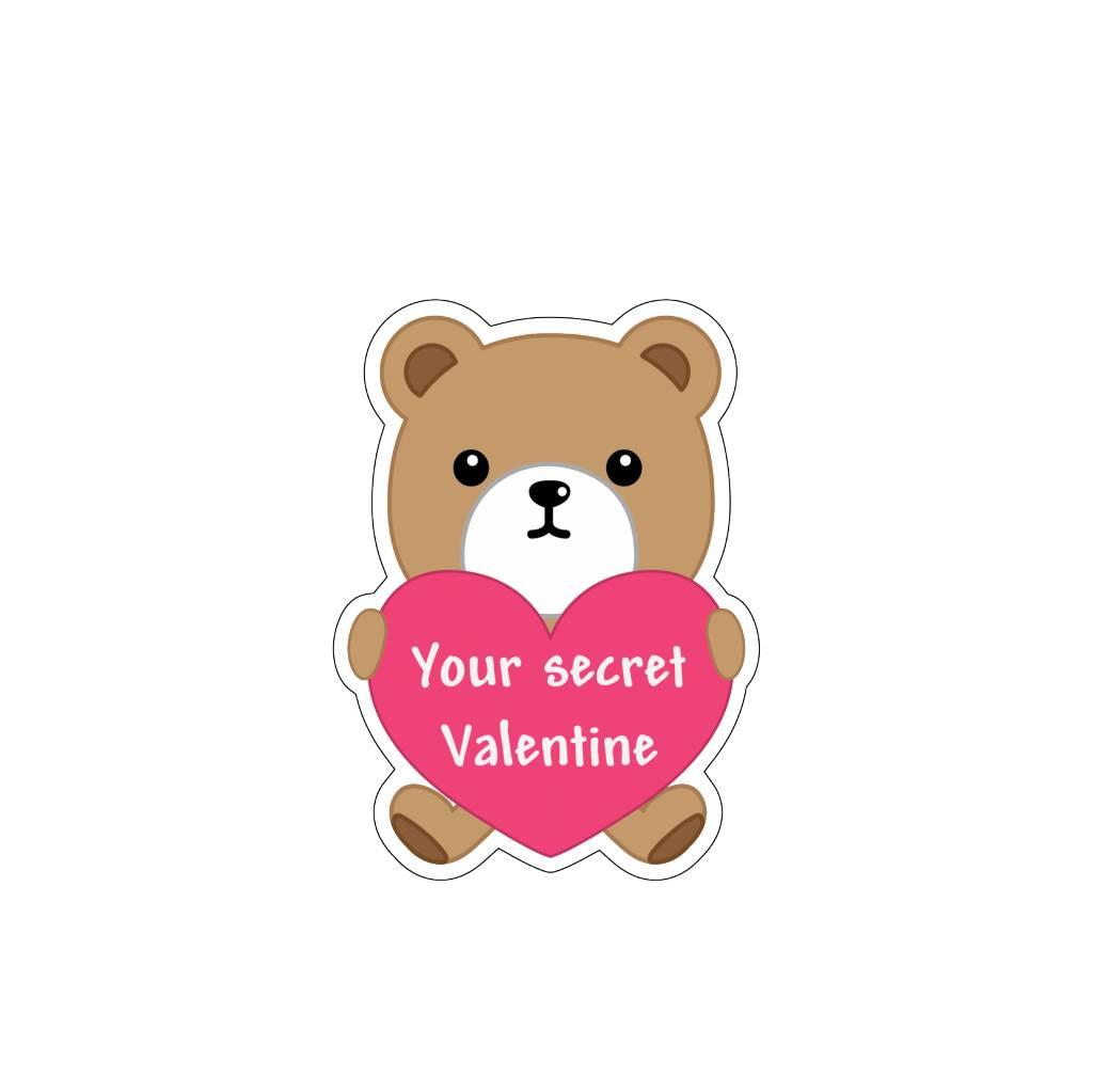 Valentine's day Love Bear 4 Stickers