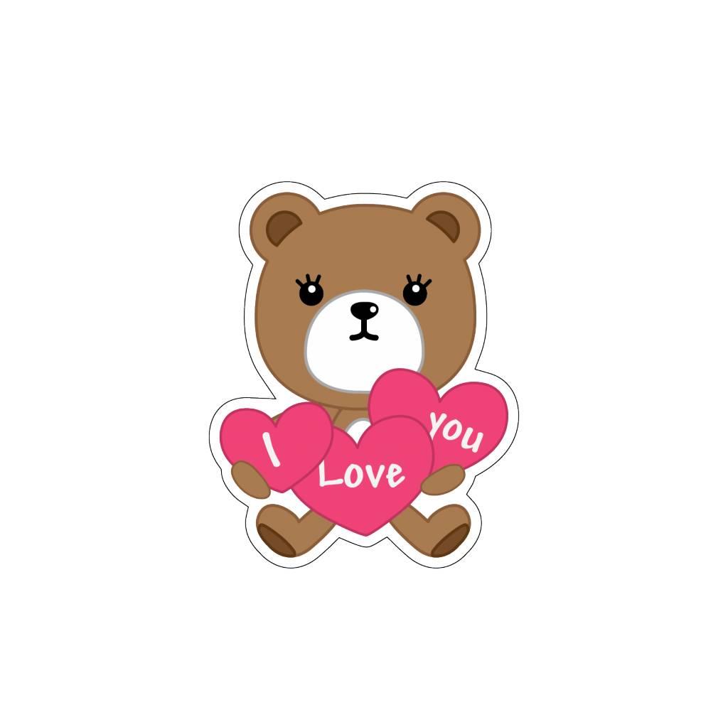Valentijnsdag Love Beertje 3 Stickers