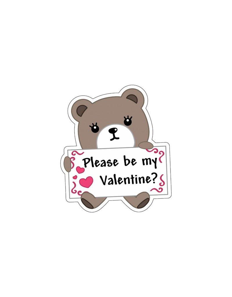 Valentine's day Love Bear 2 Stickers