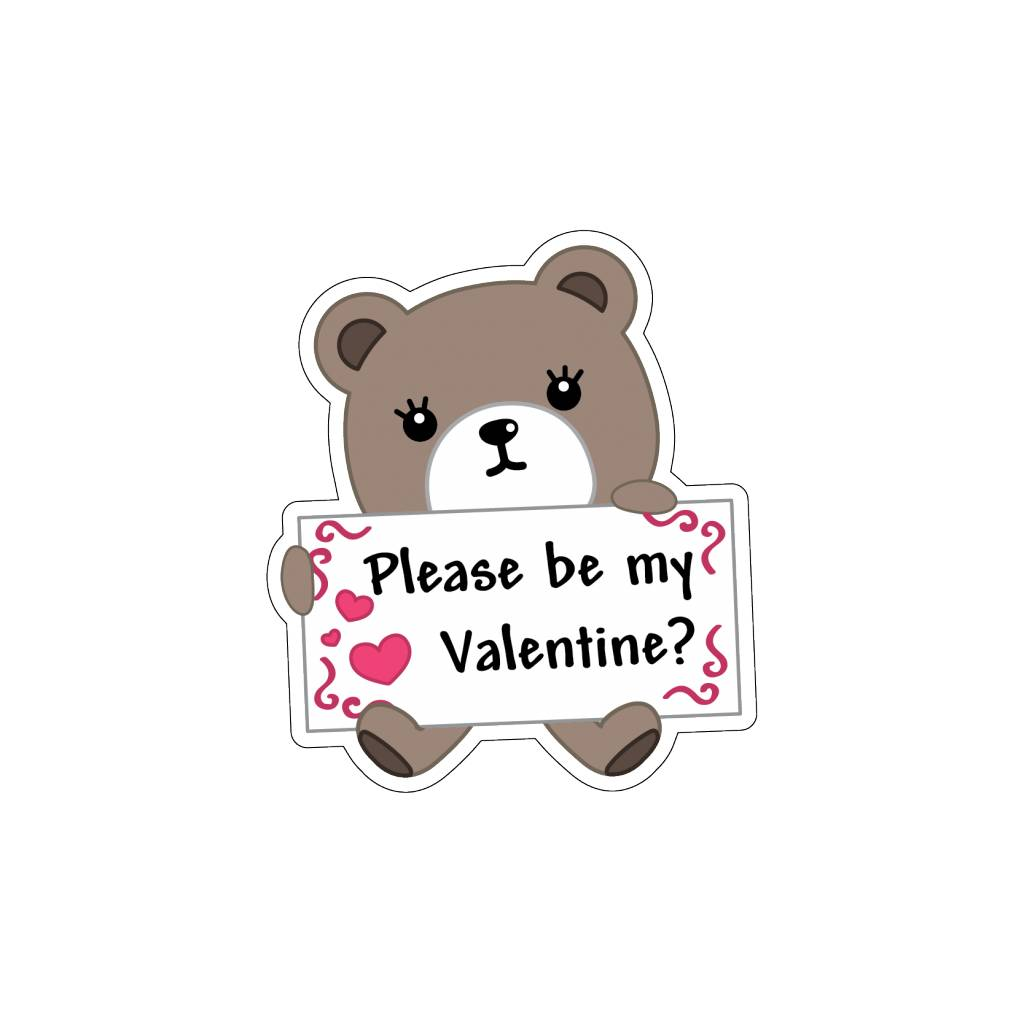 Autocollant Saint-Valentin Love petit ours 2