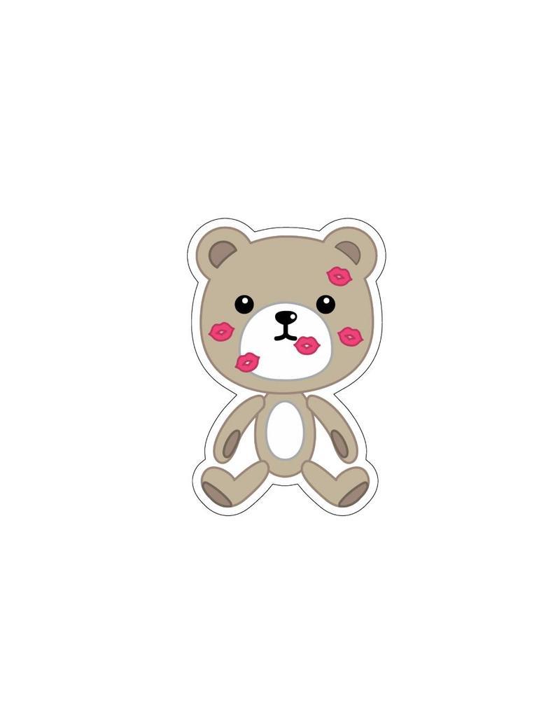 Autocollant Saint-Valentin Love petit ours 1