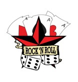 Old-school Rock 'N Roll star with dice and cards