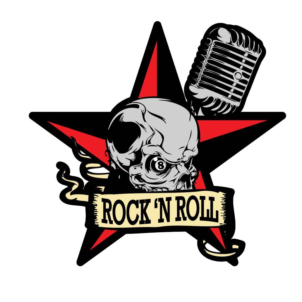 Old-school star & skull & mic