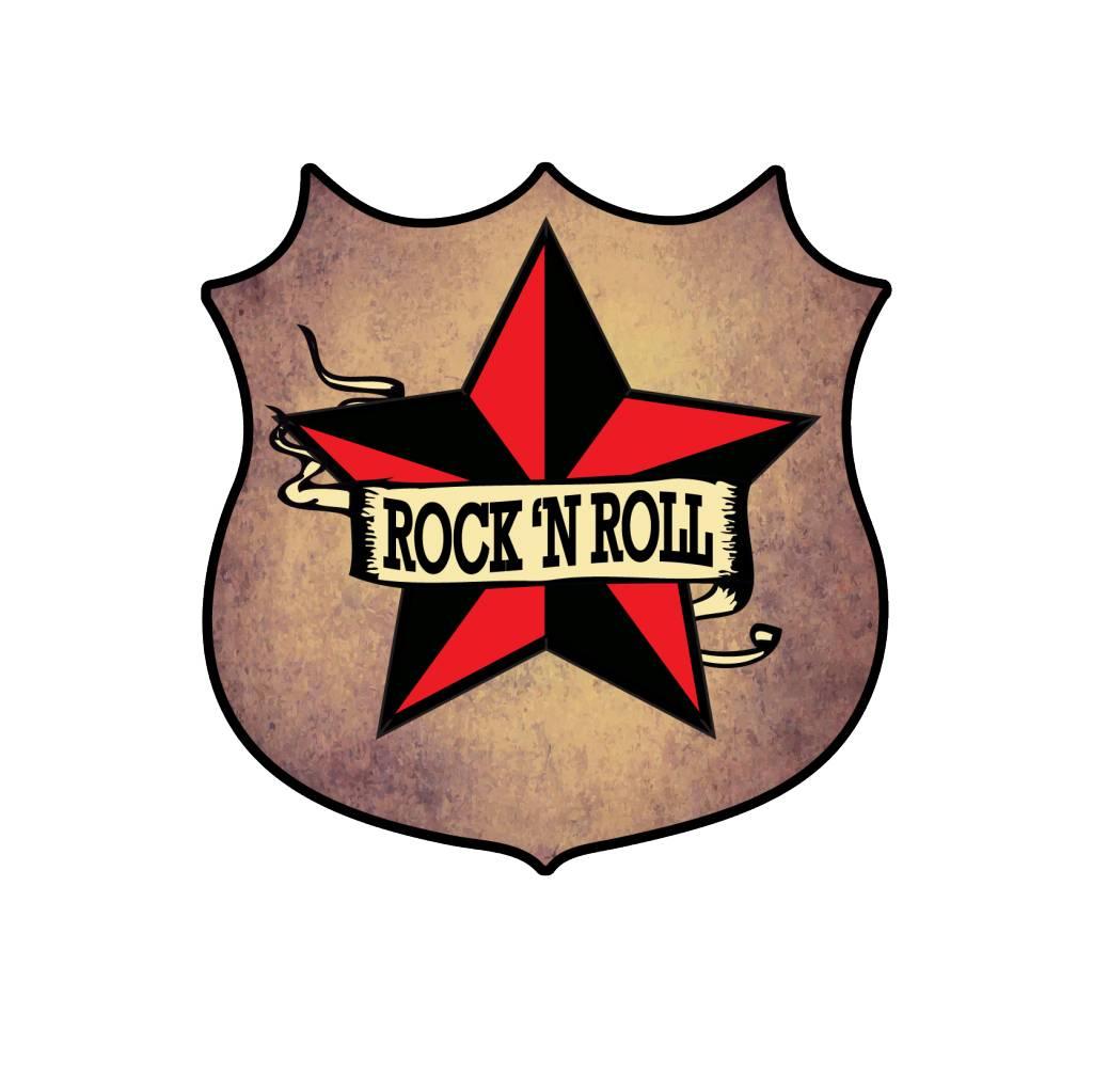 Old-school emblem Rock 'N Roll