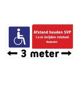 Keep 3 meters destance sticker 2