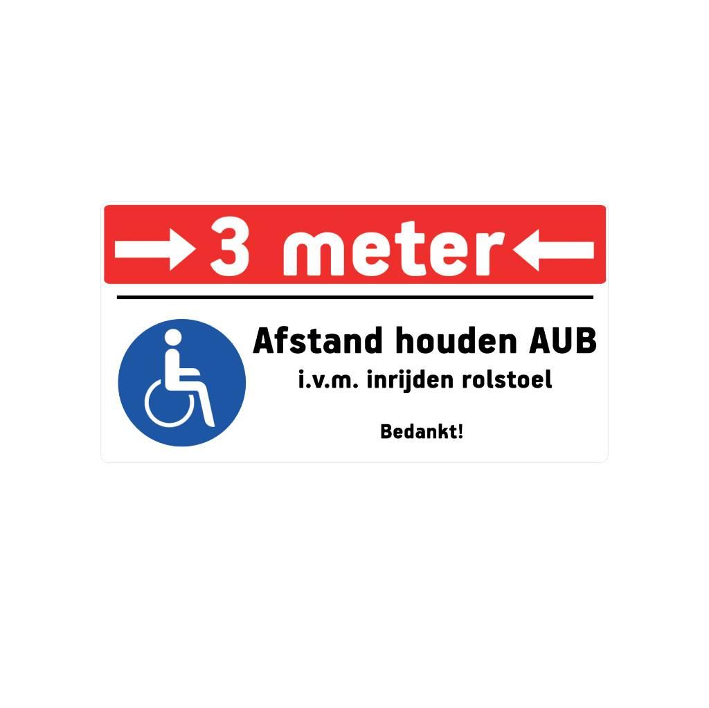 Keep 3 meters destance sticker 1