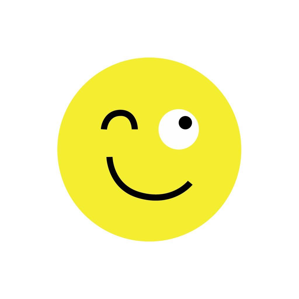 Autocollant smiley moderne 2