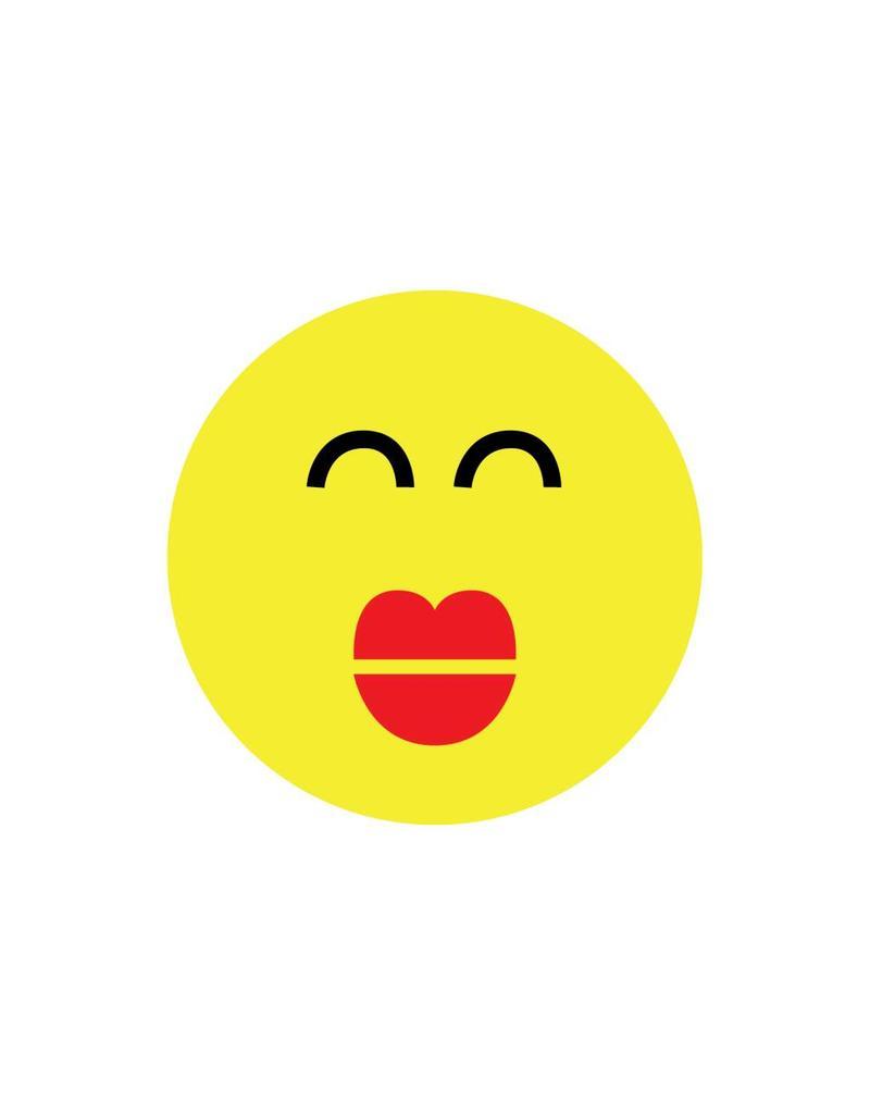 Pegatina smiley moderna 1