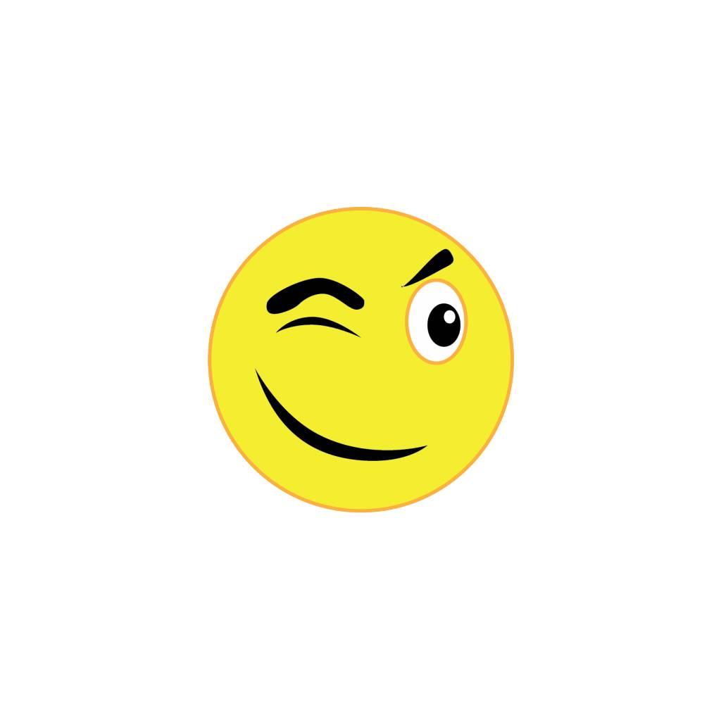 Autocollant smiley 11