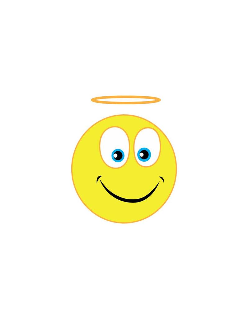 Autocollant smiley 6