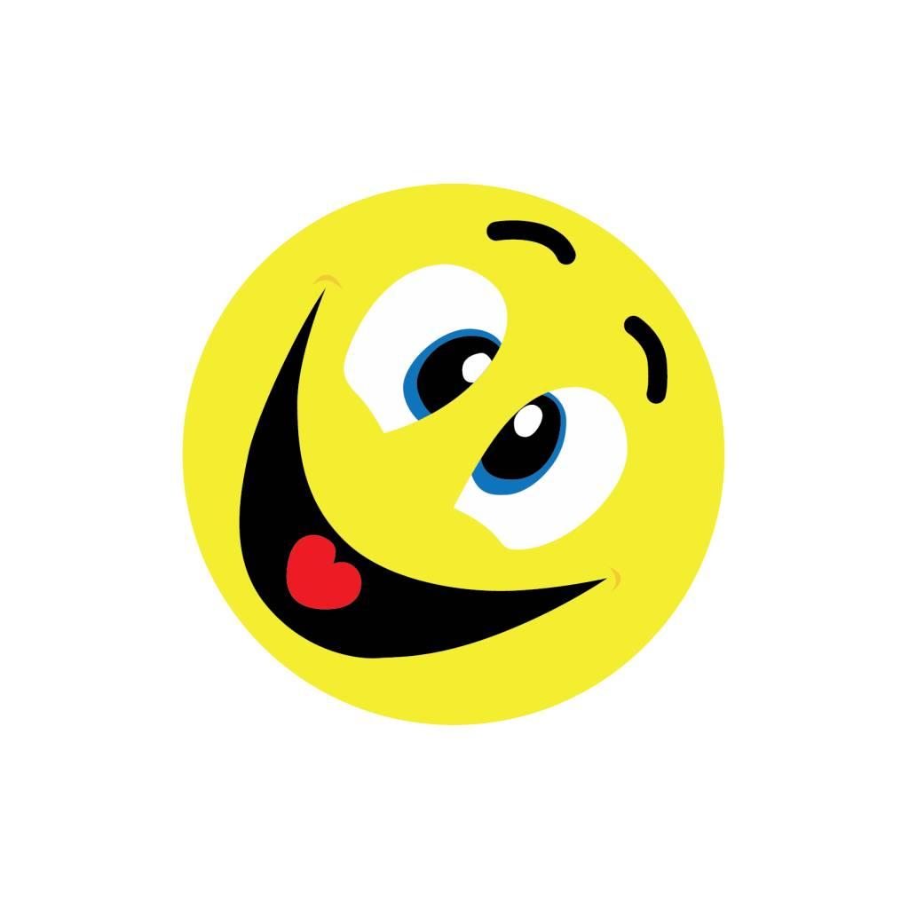 Smiley Fratze schneiden 5 Sticker