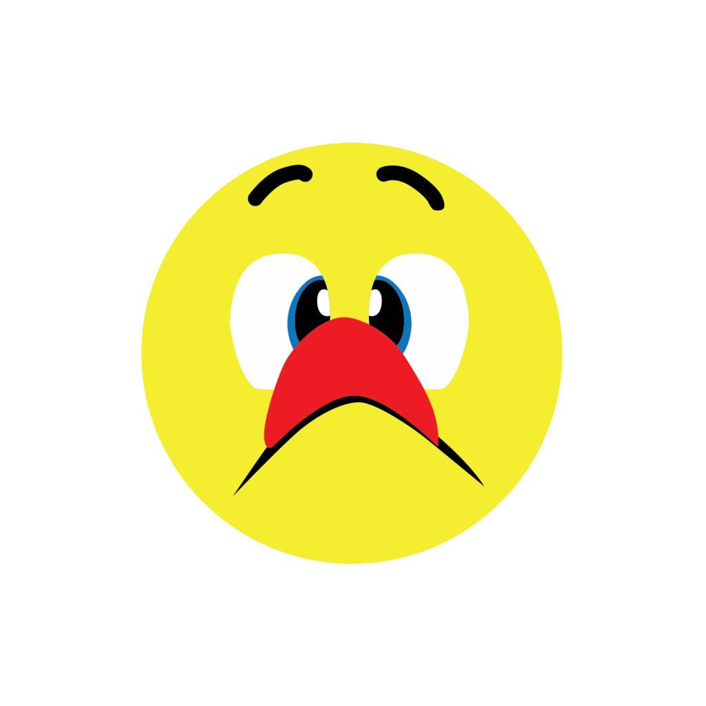 Crazy face 4 Sticker