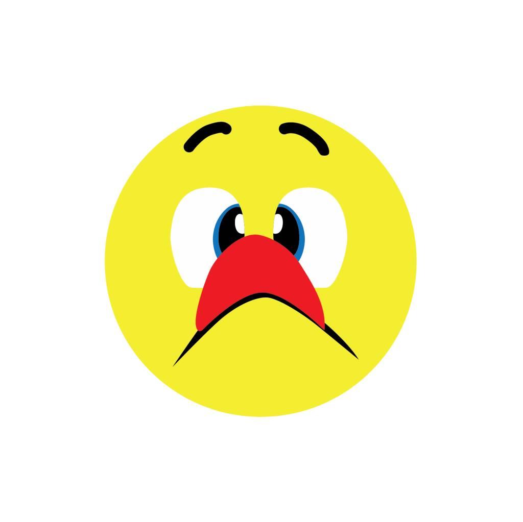 Smiley Fratze schneiden 4 Sticker