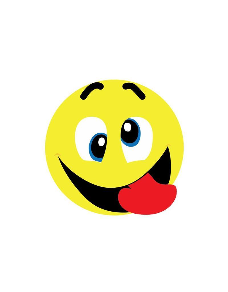 Smiley Fratze schneiden 1 Sticker