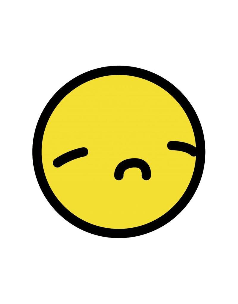 Autocollant smiley jaune 6