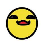 Smiley jaune 5 autocollant