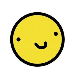 Smiley geel 4 sticker