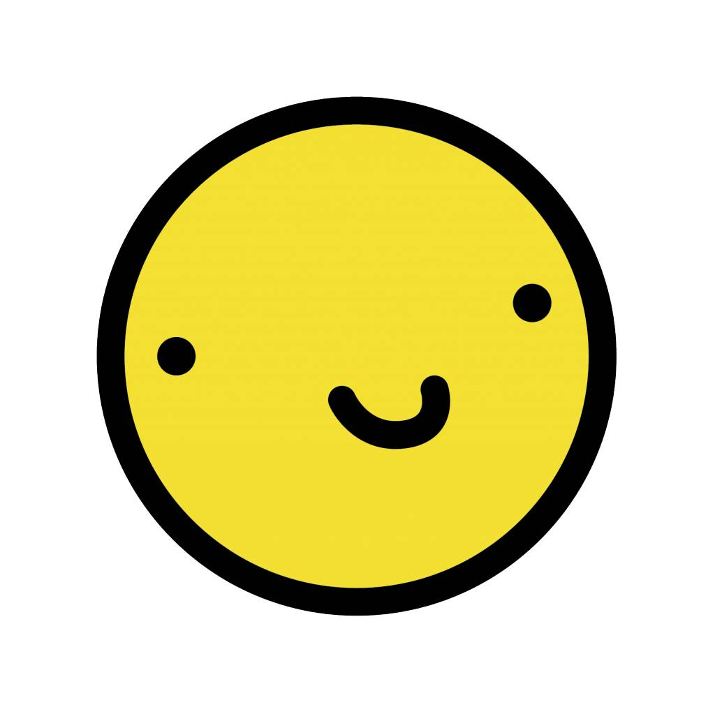 Smiley geel 4 sticker