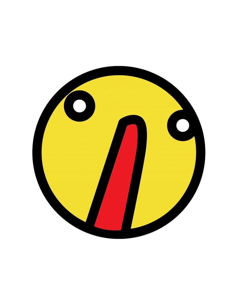 Autocollant smiley jaune 3