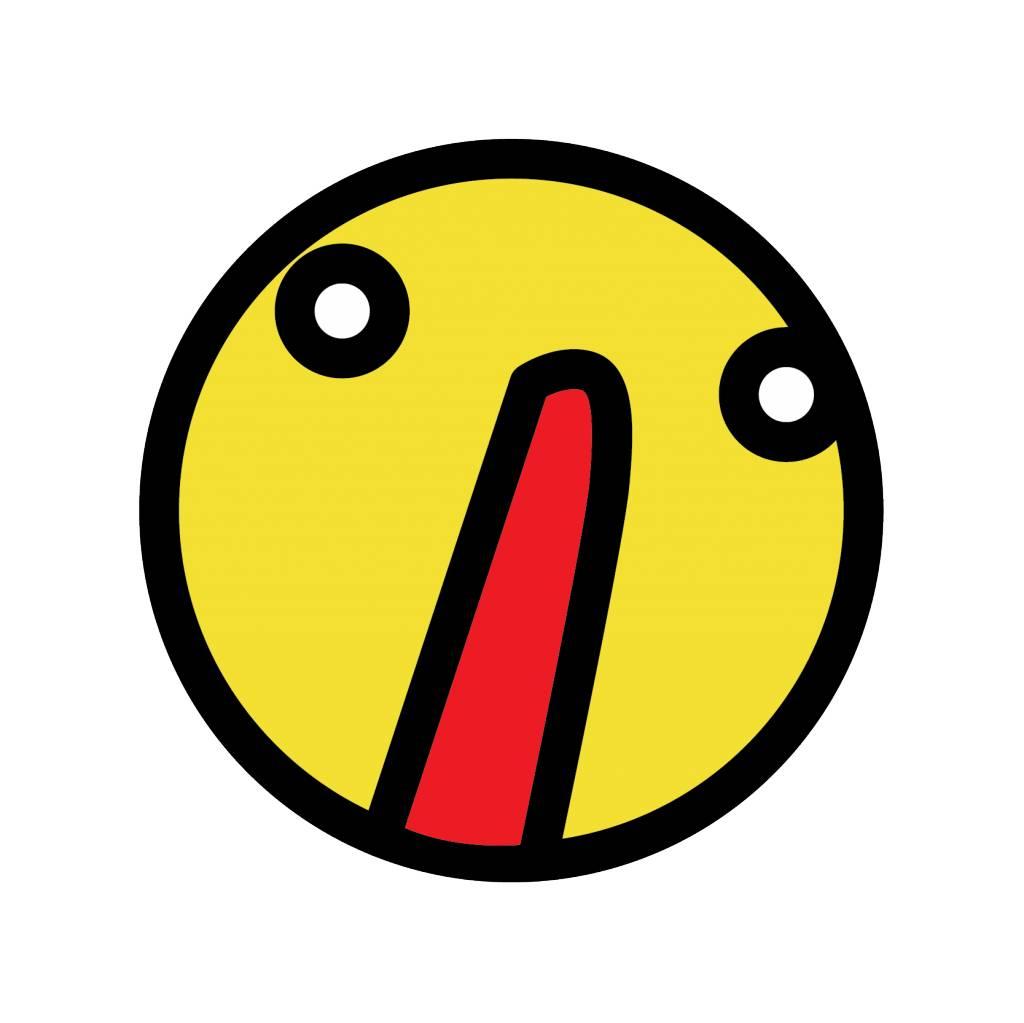 Smiley geel 3 sticker
