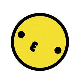 Smiley geel 2 sticker