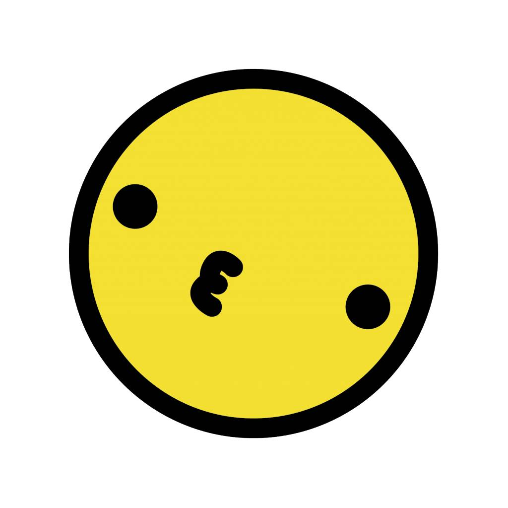 Smiley geel 2 sticker