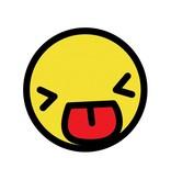Autocollant smiley jaune 1