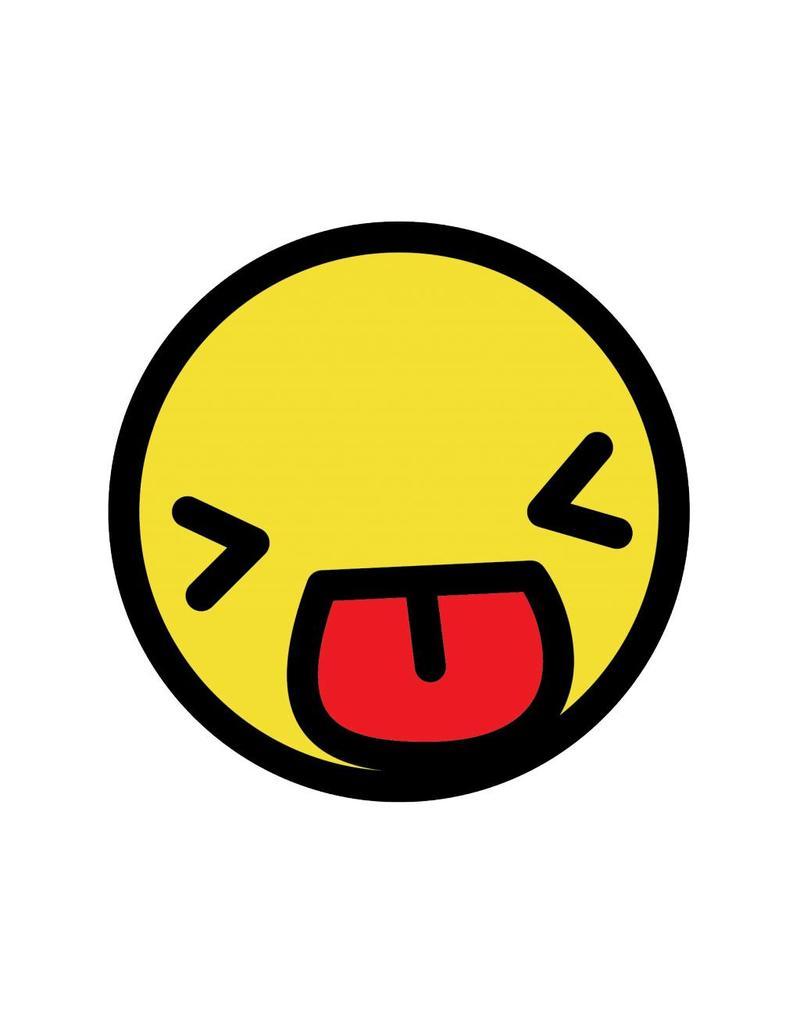 Smiley geel 1 sticker