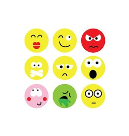 Smiley modern Stickervel