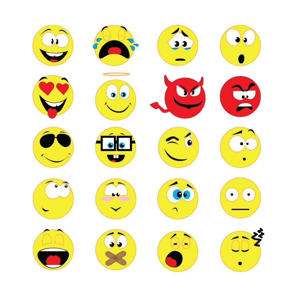 Smiley Stickervel 2