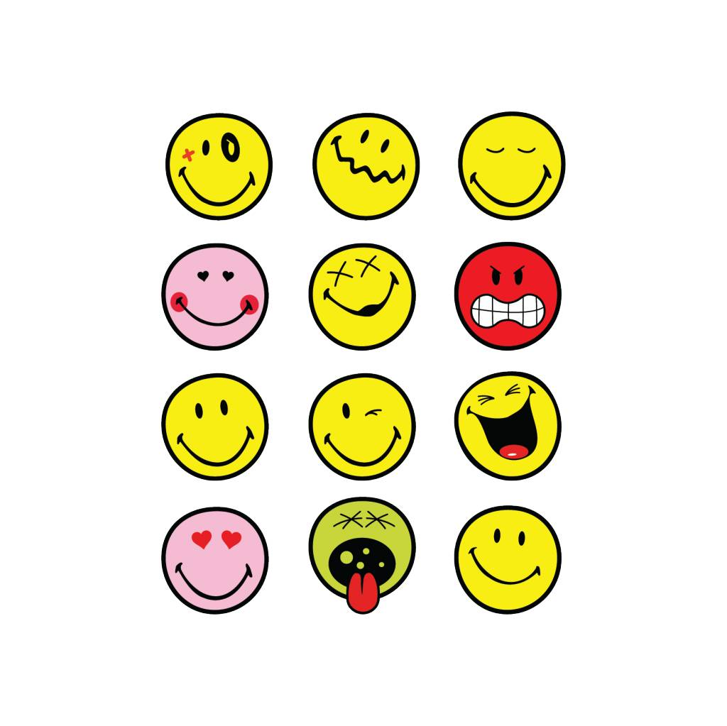 Smiley Stickervel 1