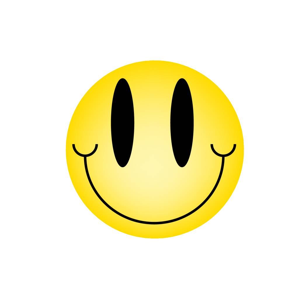 Pegatina smiley estándar