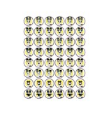 Drawn mouth Smiley Stickers
