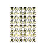 Getekende mond Smiley Stickers