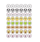 Animal Smiley Stickers1