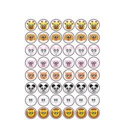 Dieren Smiley Stickers