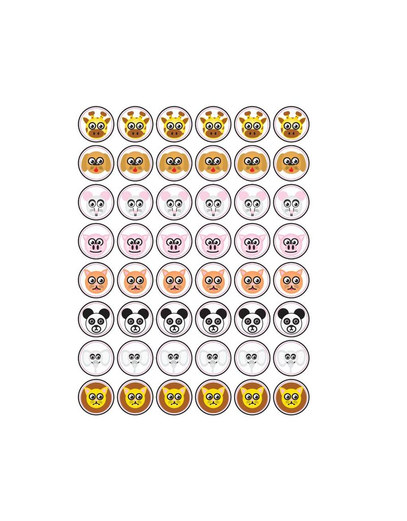 Dieren Smiley Stickers
